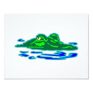 Alligator #018 11 cm x 14 cm invitation card