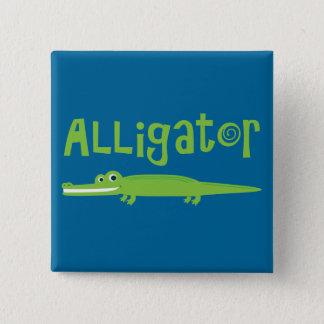 Alligator 15 Cm Square Badge