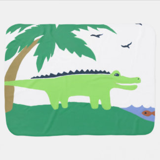 Alligator Baby Blanket, Matches Safari Sky, Cute Buggy Blanket