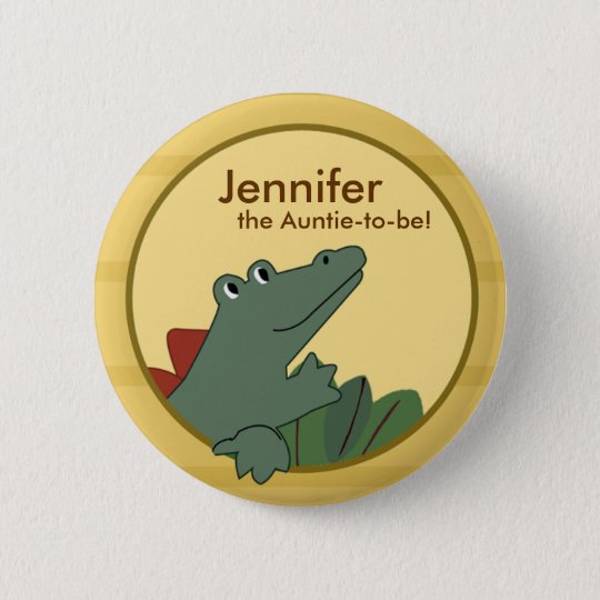 Alligator Baby Shower or Birthday Personalised 6 Cm Round Badge