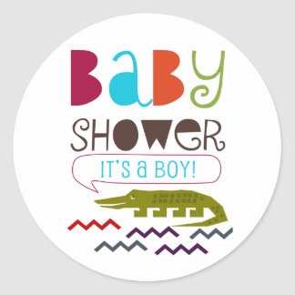Alligator Baby Shower Stickers