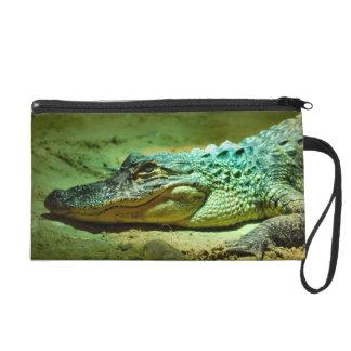 Alligator Wristlet Purse