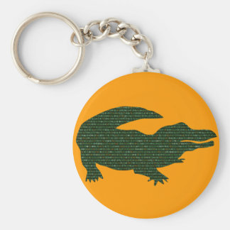 Alligator Basic Round Button Key Ring