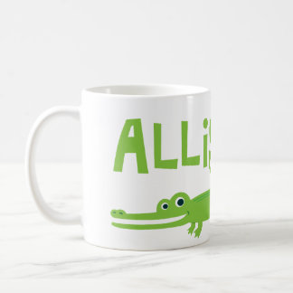 Alligator Basic White Mug