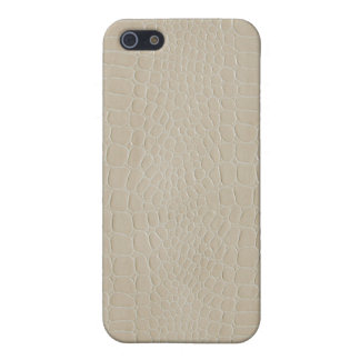 Alligator Beige Cover For iPhone 5/5S