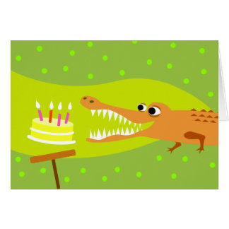 Alligator Birthday Card