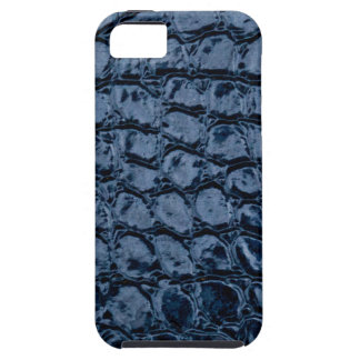 Alligator Blue Faux Leather iPhone 5 Case