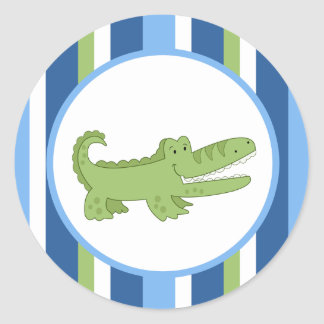 Alligator Blue/Green Envelope Seals / Toppers 20