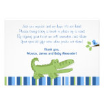 Alligator Blue/Green RSVP Enclosure Cards Custom Invitations