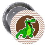 Alligator; Brown Chevron