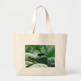 alligator,caiman large tote bag