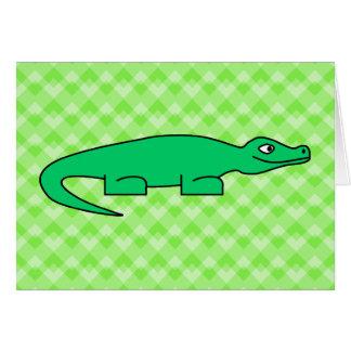 Alligator. Card