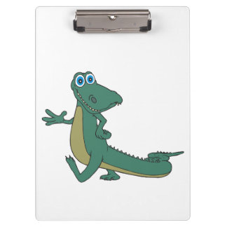 Alligator cartoon clipboard