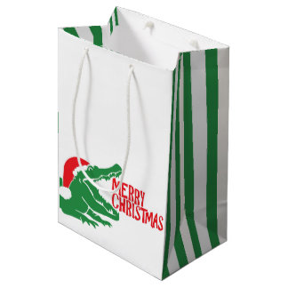 Alligator christmas gift bag