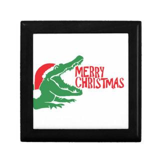 Alligator christmas gift box