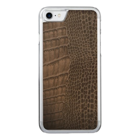 Alligator Classic Reptile Leather (Faux) Carved iPhone 7 Case