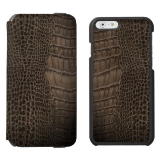 Alligator Classic Reptile Leather (Faux) Incipio Watson™ iPhone 6 Wallet Case