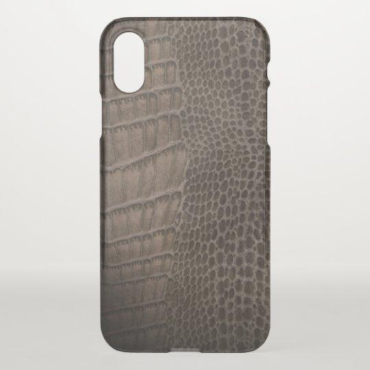 Alligator Classic Reptile Leather (Faux) iPhone X Case