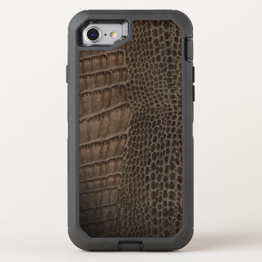 Alligator Classic Reptile Leather (Faux) OtterBox Defender iPhone 8/7 Case