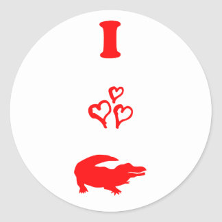 Alligator Classic Round Sticker