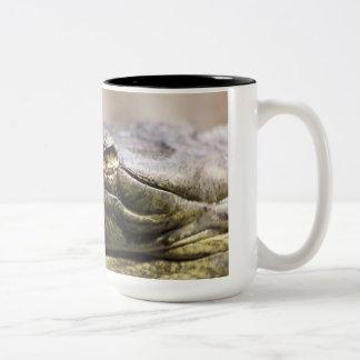 Alligator closeup photo mug