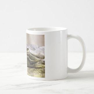Alligator closeup photo coffee mugs
