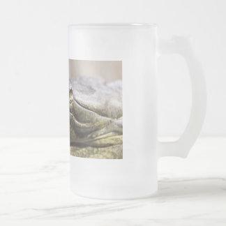 Alligator closeup photo glass beer mugs