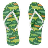 1833fed838a48c Alligator Crocodile Animals Flip flops