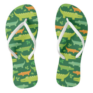 348025d7e Alligator Crocodile Animals Flip flops