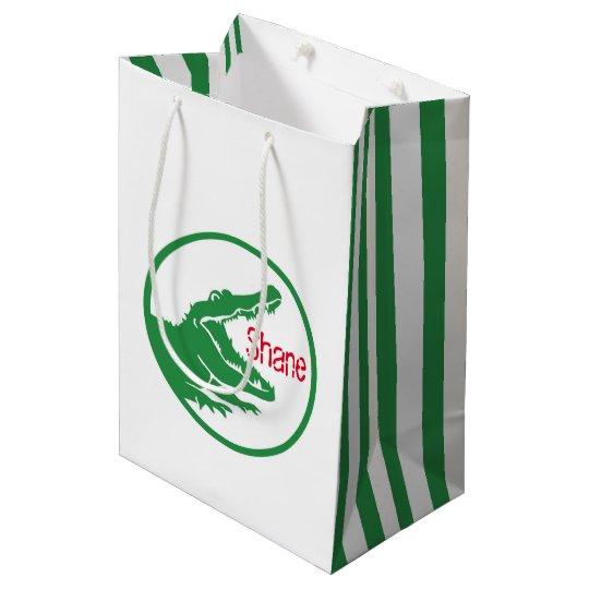 Alligator custom gift bag
