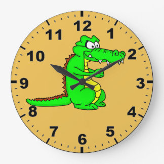 Alligator design wrist watches large clock
