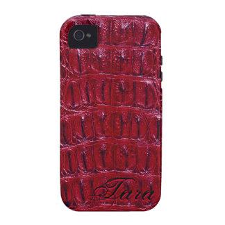 Alligator Designer iPhone 4 Skin (burgundy) iPhone 4 Cases