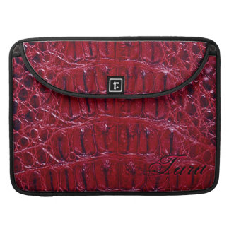 "Alligator Designer MacBook 15"" Sleeve (burgundy)"