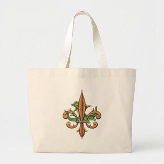 Alligator Fleur De Lis Large Tote Bag