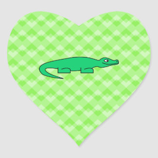 Alligator. Heart Sticker
