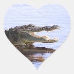 Alligator Heart Sticker