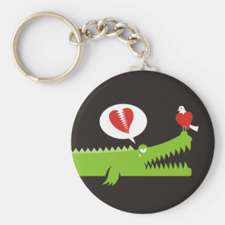 Alligator in Love Key Ring