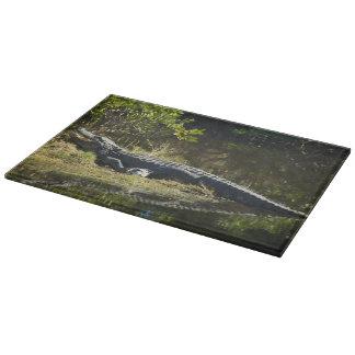 Alligator in the Sun Cutting Board
