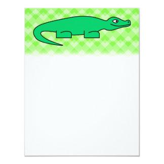 "Alligator. 4.25"" X 5.5"" Invitation Card"