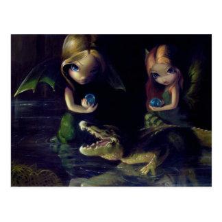 Alligator Magic Postcard