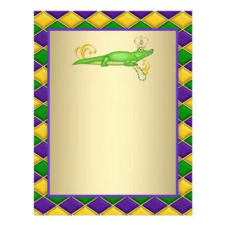 Alligator Mardi Gras 21.5 Cm X 28 Cm Flyer