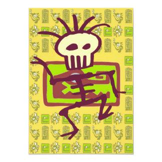 Alligator Mayan Cover, Bone Man 13 Cm X 18 Cm Invitation Card