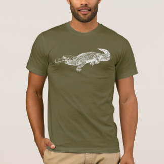 alligator on dark shirt