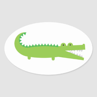 Alligator Oval Sticker