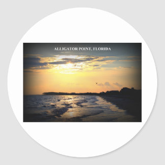 ALLIGATOR POINT, FLORIDA CLASSIC ROUND STICKER