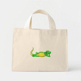 Alligator Posing Canvas Bags