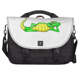 Alligator Posing Laptop Commuter Bag