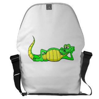 Alligator Posing Courier Bag