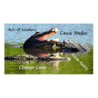 Alligator Random Acts of Kindness Card Business Card