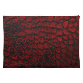 Alligator Red Faux Leather Placemat